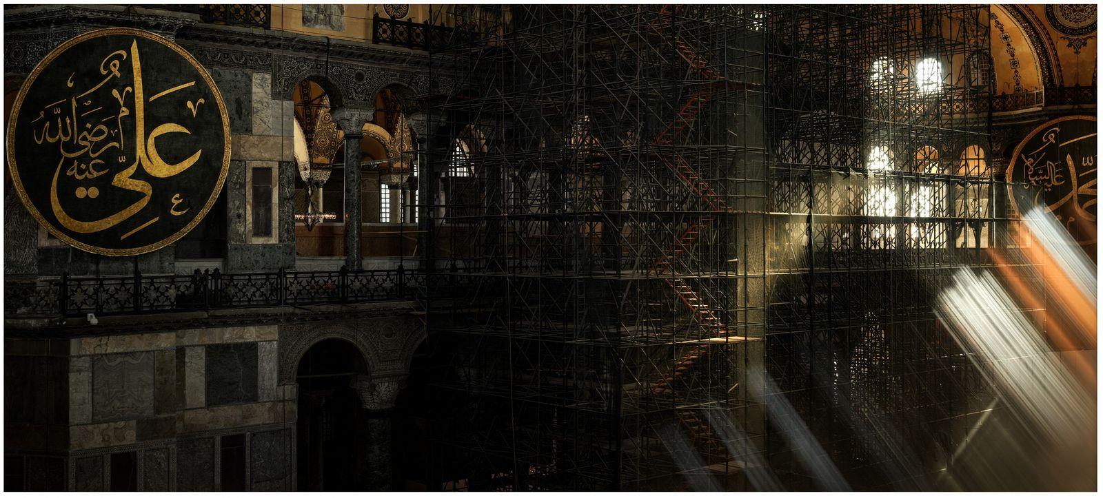 Istanbul, Turquie, 2019 - Sainte-Sophie est certainement le monument le plus connu d'Istanbul. Cette ancienne basilique, ...