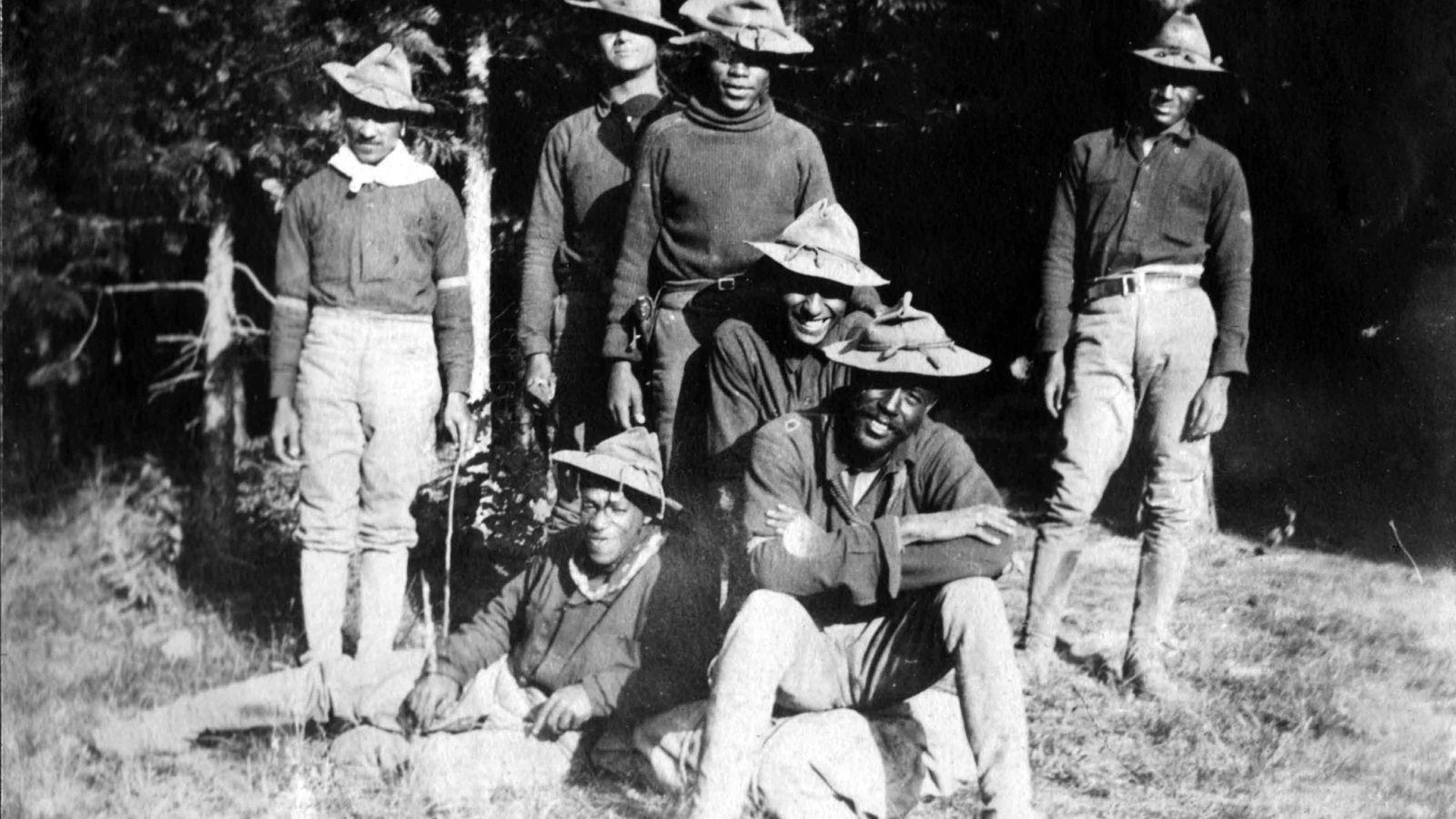Peu de temps après la création du parc national de Yosemite en 1890, les Buffalo Soldiers ...