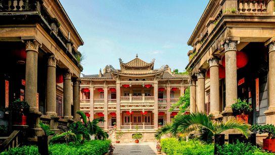 Près de la ville de Xiamen, la petite île de Kulangsu a été le centre d'échanges ...