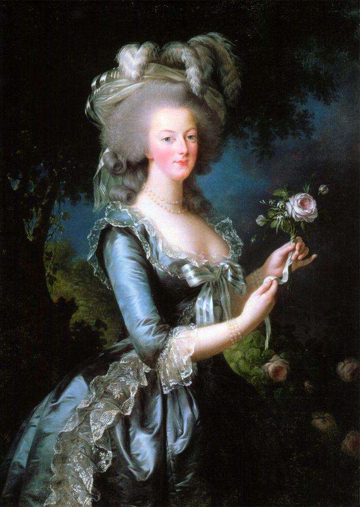 Marie-Antoinette immortalisée en 1783 par Élisabeth Vigée Le Brun. Marie Antoinette avec une rose dans le ...