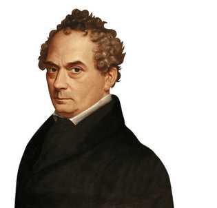 Portrait de Clemens Brentano réalisé par Emilie Linder au 19e siècle.