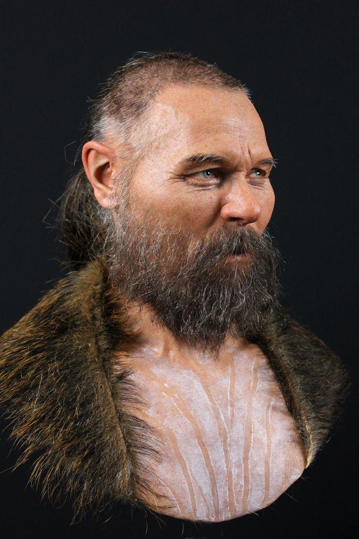 Le crâne partiel utilisé pour reconstruire le visage de cet homme a été mis au jour ...