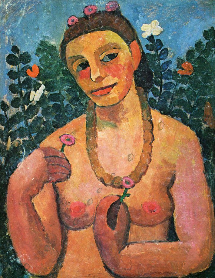 L'artiste allemande Paula Modersohn-Becker fut la première femme à peindre un autoportrait nu.
