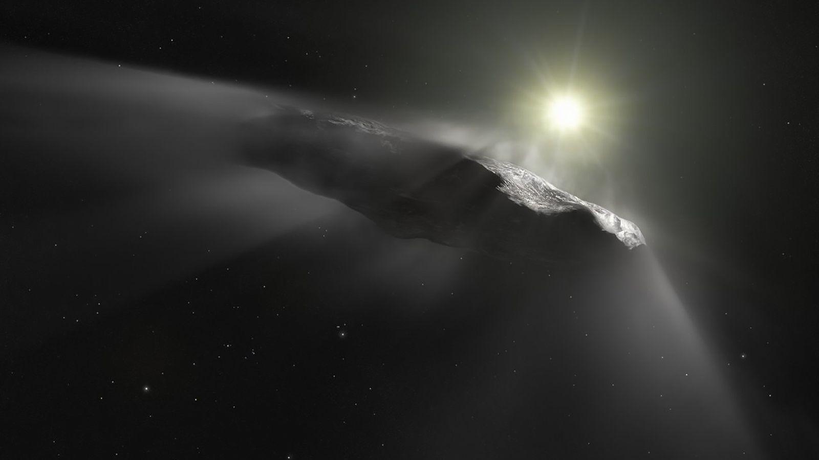 L'astéroïde à la forme originale Oumuamua, ici représenté dans une illustration, était le premier objet céleste ...