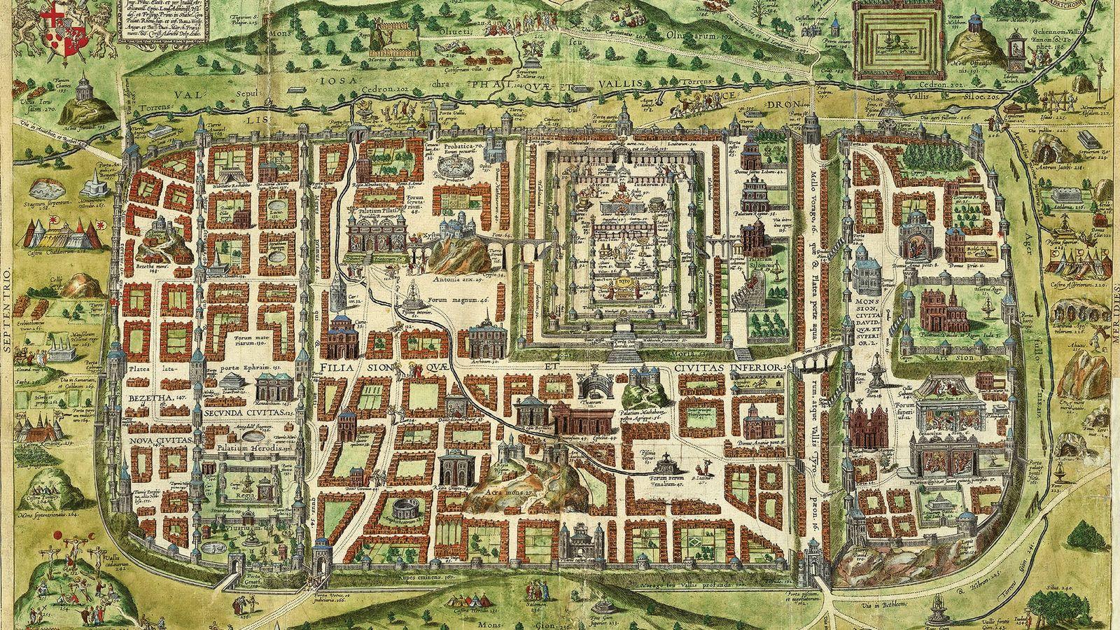 Cette carte de Jérusalem datant de 1584 a été réalisée par un prêtre européen qui n'a ...