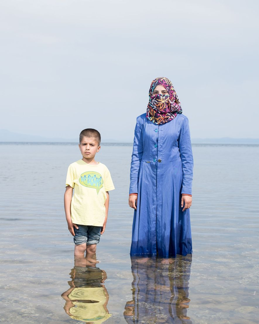 Kafa Al Nayaf, âgée de 19 ans, et son neveu ont fui la Syrie afin d'échapper ...