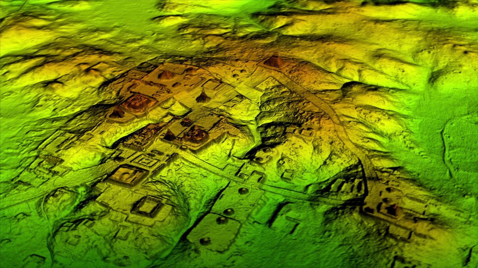 La technologie laser connue sous le nom de LiDAR supprime numériquement le couvert forestier pour révéler ...
