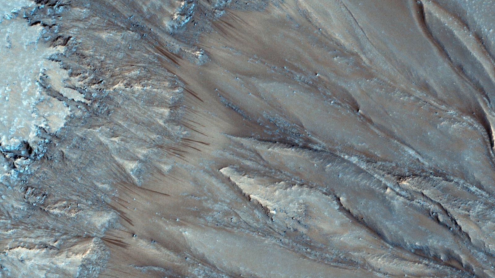 Les pentes de Mars