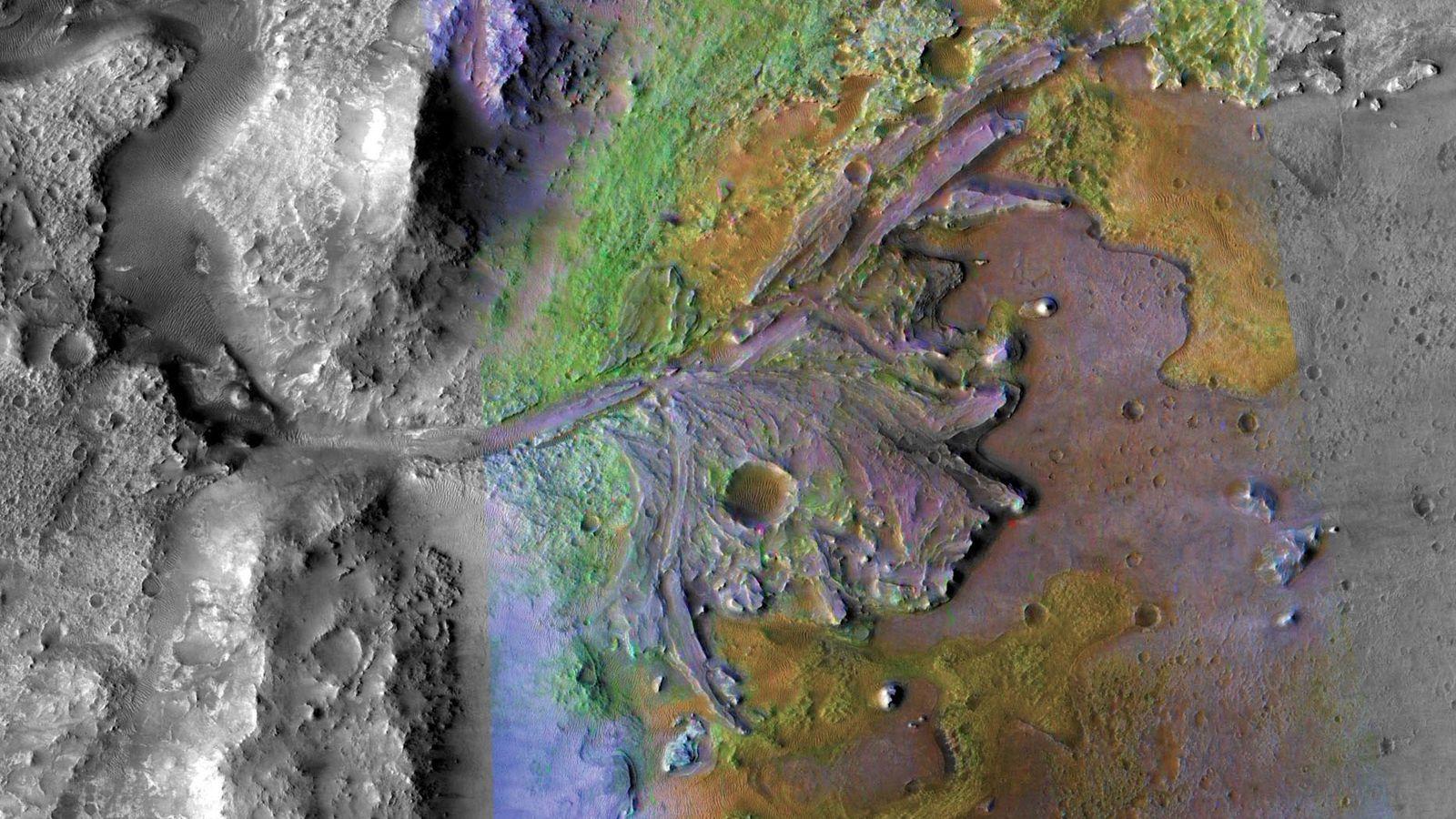 Mise au point par la NASA, la sonde spatiale Mars 2020 devrait atterrir dans le cratère ...