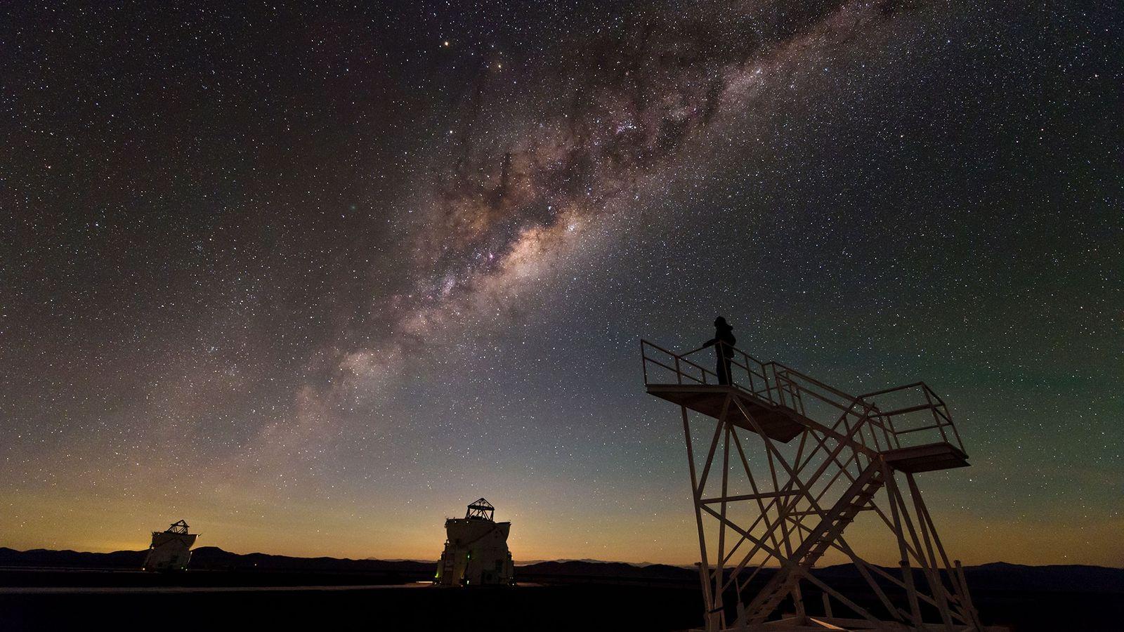 La Voie lactée observée depuis l'Observatoire du Cerro Paranal, dans le désert d'Atacama, au Nord du ...