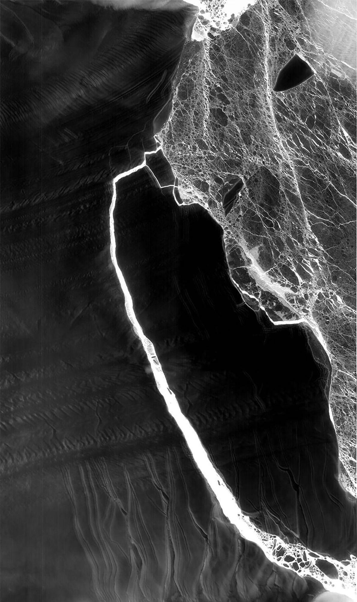 Cette image prise par Landsat 8 est un composite des données collectées lors du passage du ...