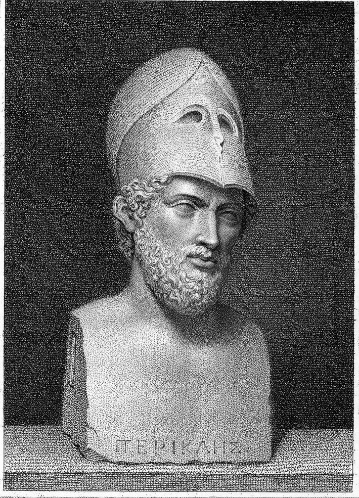 Illustration d'un buste de Périclès.