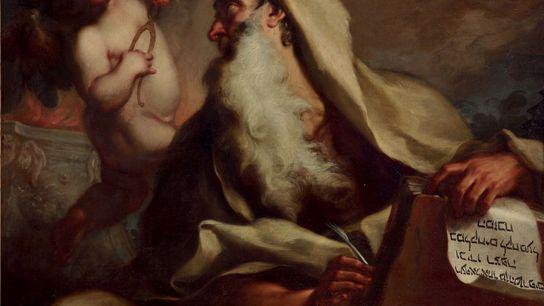 Un ange rend visite au prophète Isaïe dans l'inquiétante peinture d'Antonio Balestra au début du XVIIIe ...