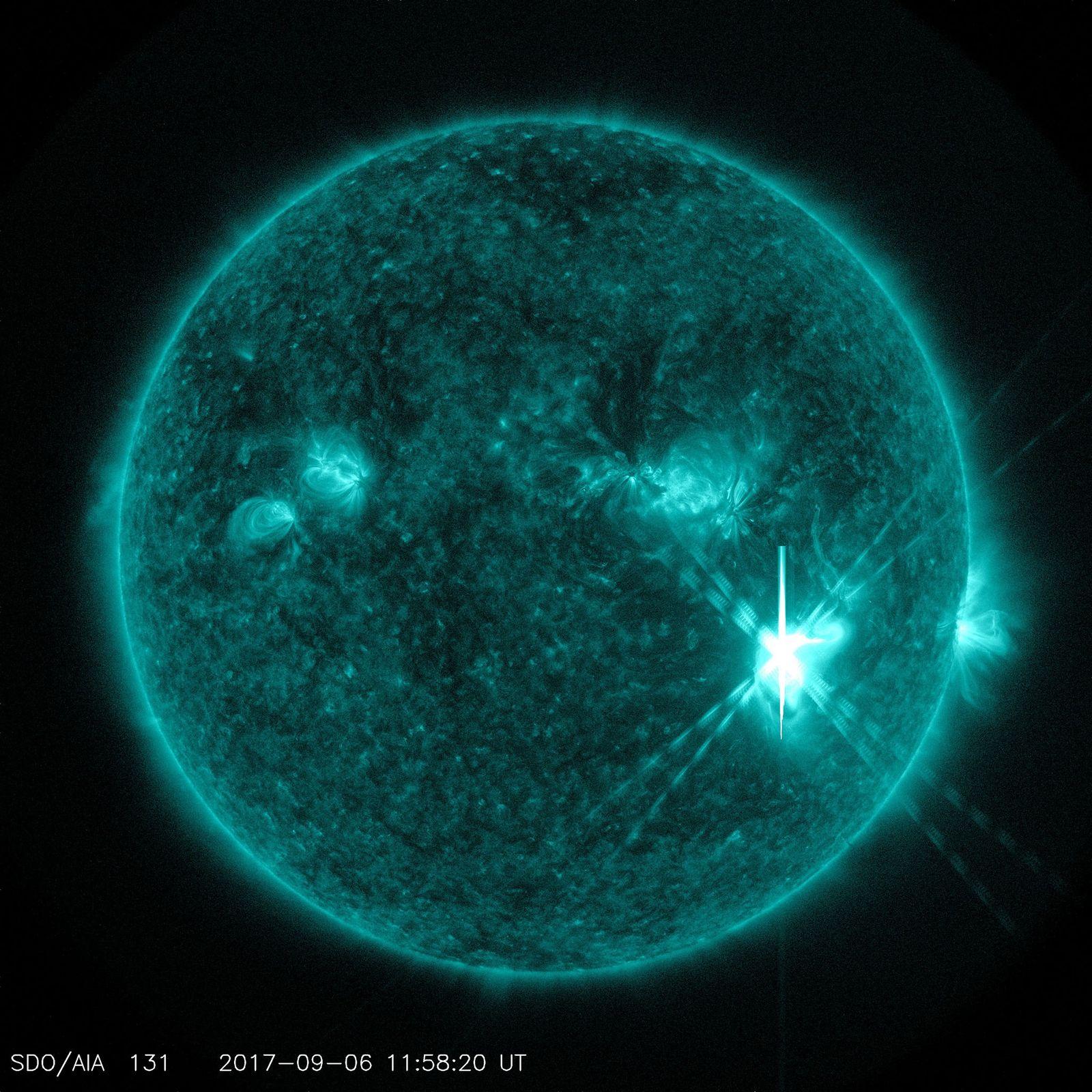 L'Observatoire de la dynamique solaire de la NASA a capturé cette image d'une éruption solaire le ...