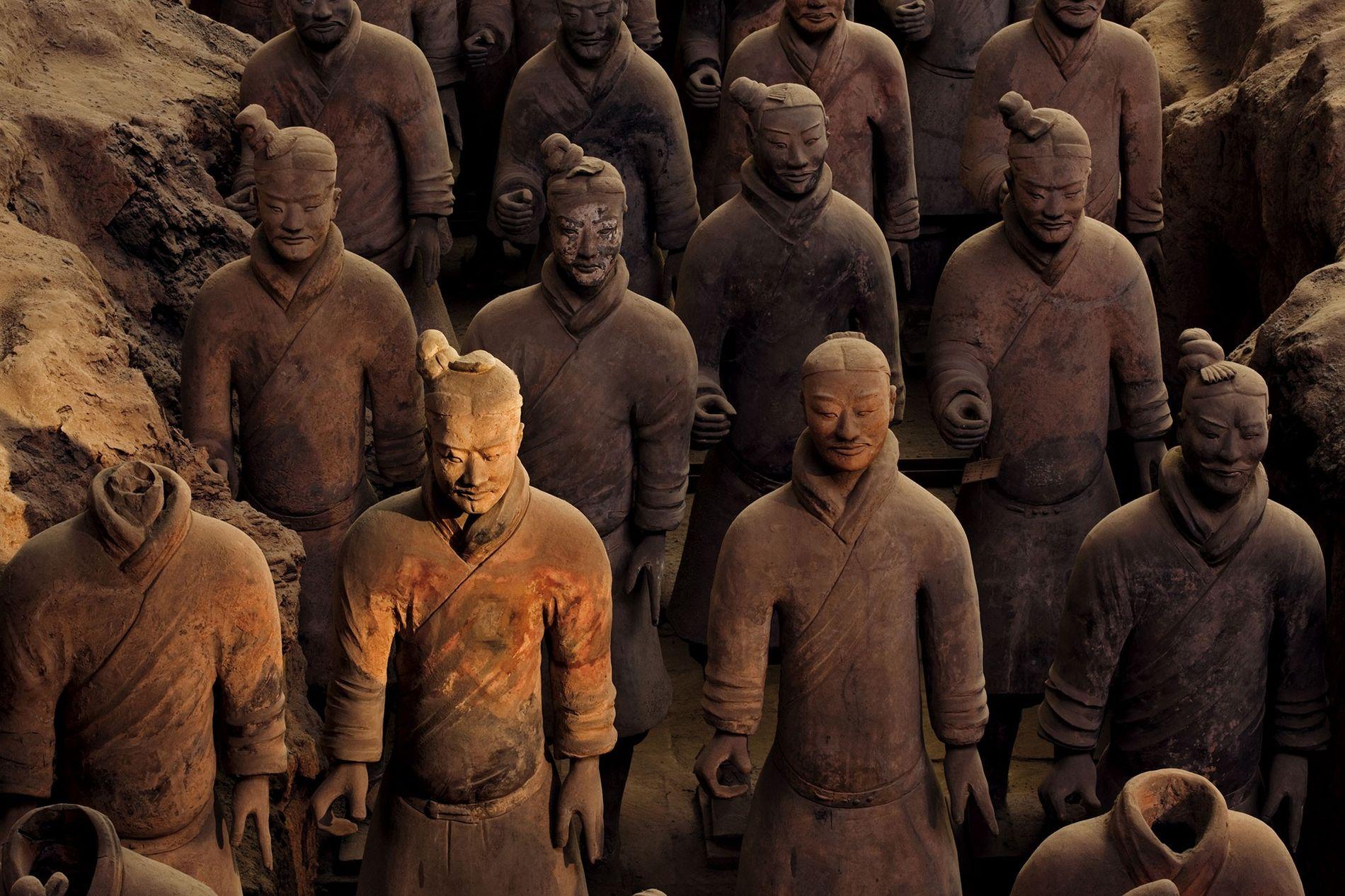 L'armée de terre cuite a été façonnée pour servir le premier empereur de Chine dans l'au-delà.