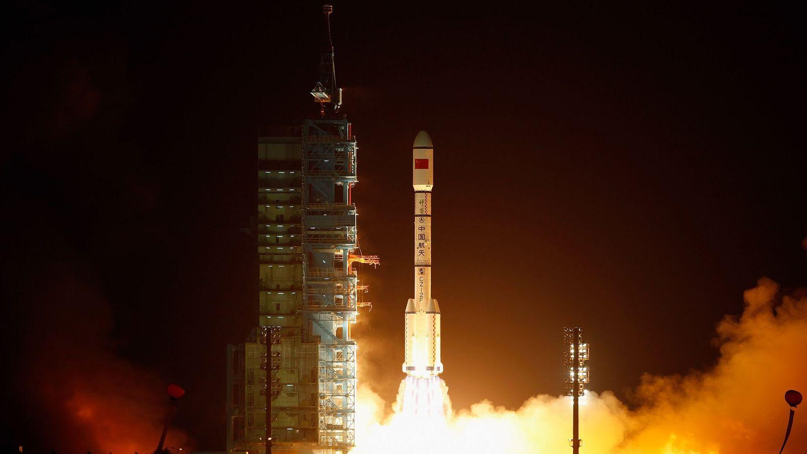 Une fusée transportant le Tiangong-1 a décollé du Centre de lancement de satellites de Jiuquan le ...