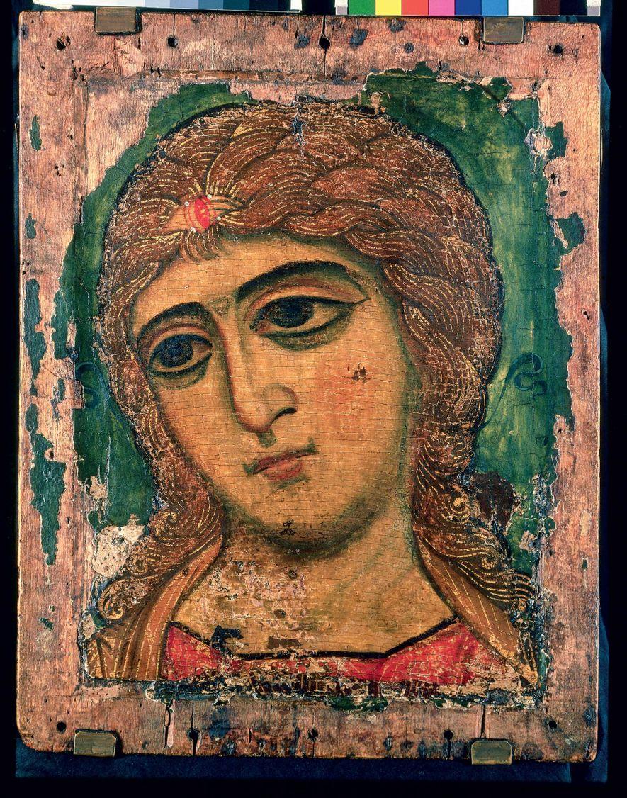 Les caractéristiques des portraits du Fayoum, comme les grands yeux et l'émotion intense qu'ils expriment, ont ...