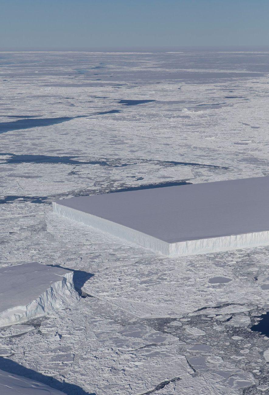 Pourquoi cet iceberg est-il parfaitement rectangulaire ?