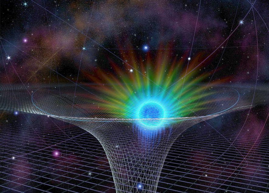 L'étoile connue sous le nom de S0-2 se rapproche du trou noir supermassif Sagittarius A*, représenté ...