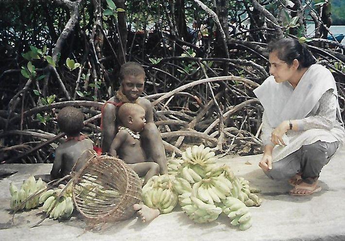 L'anthropologue Madhumala Chattopadhya a passé six années à étudier les tribus des îles Andaman.