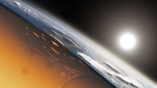Cette illustration montre à quoi ressemblait une vue en coupe de la Terre il y a ...