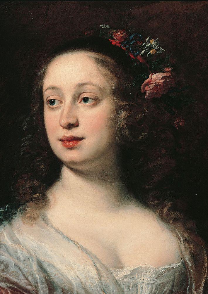 Portrait de Vittoria della Rovere, membre de la famille des Médicis, réalisé par Sustermans Justus.