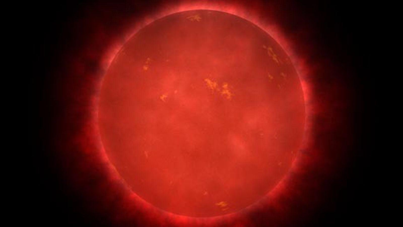 Ici reprise dans une illustration, l'étoile de Teegarden est une naine rouge très peu brillante située ...
