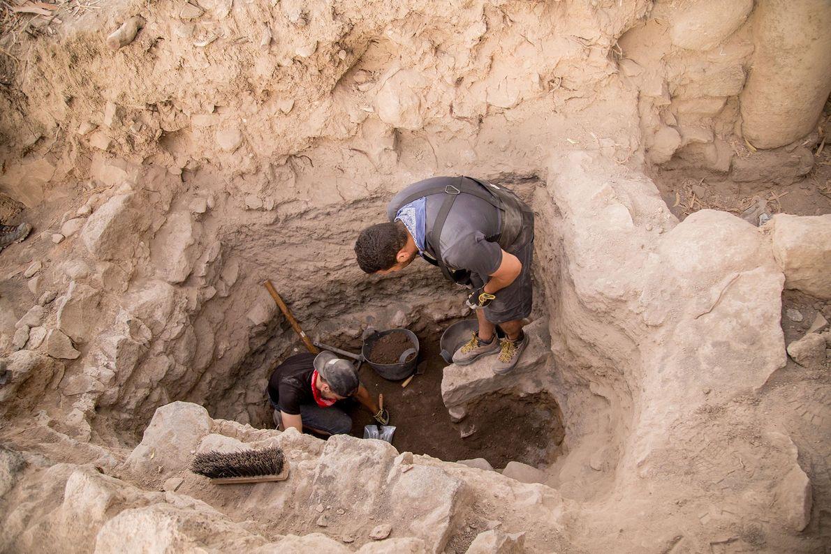 À la fin de la campagne de fouilles de 2017, l'équipe d'el-Araj a atteint des niveaux ...