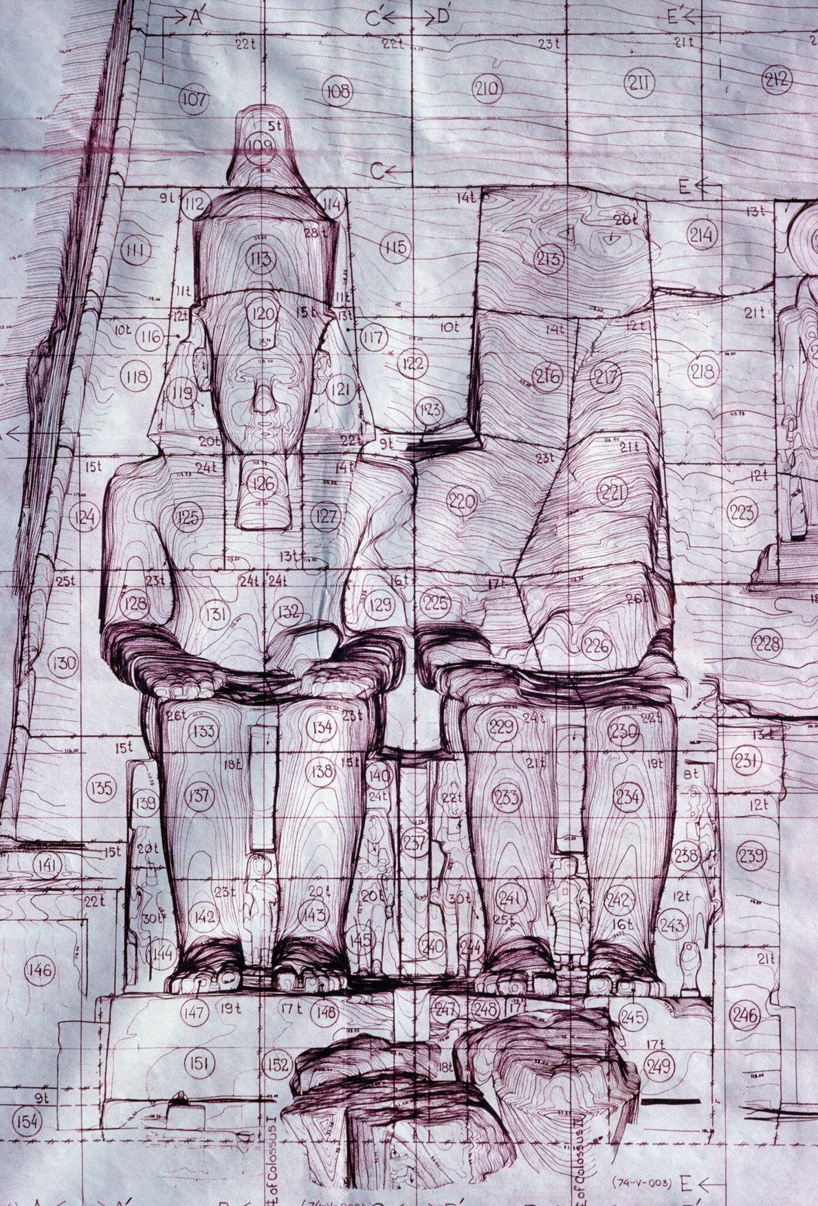 Des plans dévoilent le système de numérotation utilisé pour les blocs de pierre taillés, qui permettra ...