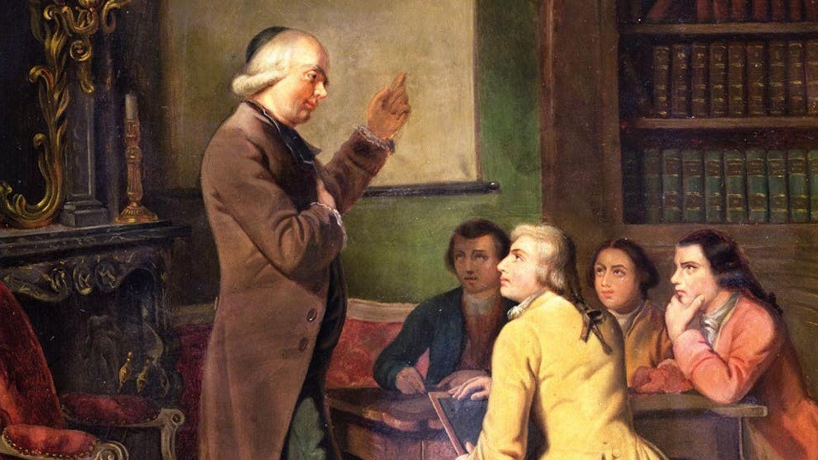 Cette peinture datant du 19e siècle et réalisée par Frédéric Peyson représente Charles-Michel de L'Épée en ...
