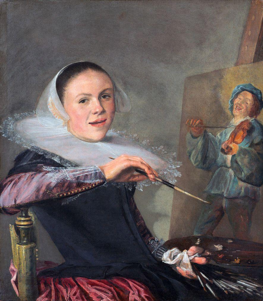 Judith Leyster est l'une des premières artistes féminines à avoir réaliser des autoportraits la montrant au travail.