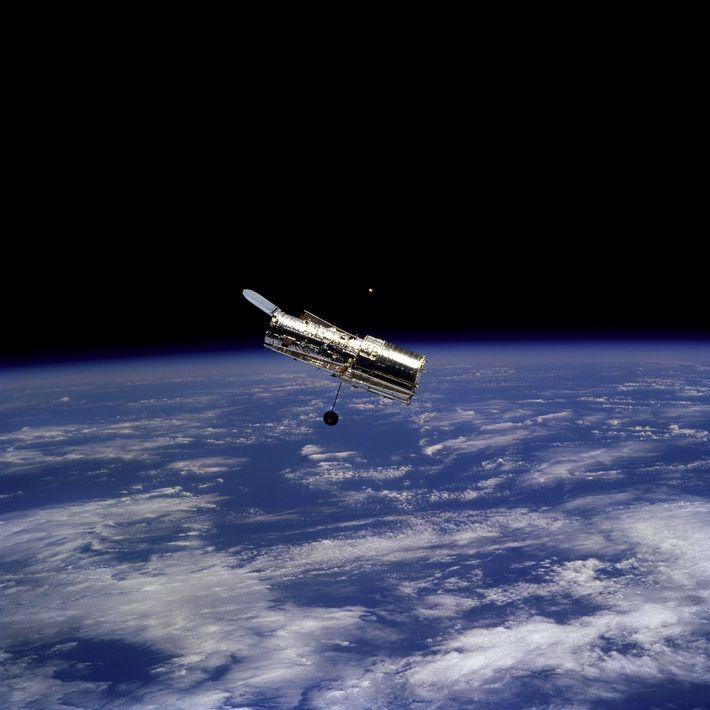 En février 1997, les astronautes à bord de la navette spatiale Discovery ont pris cette photographie ...