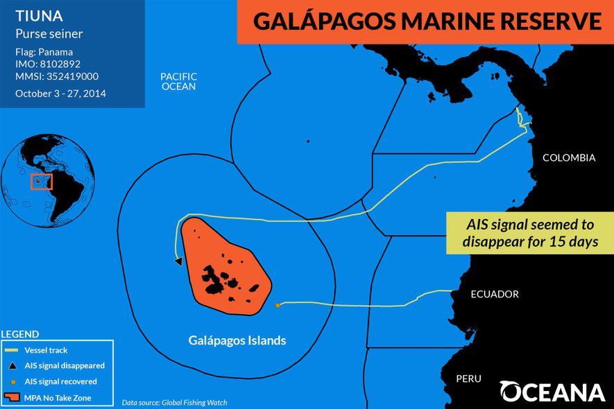 Un navire de pêche panaméen a « disparu » à l'ouest de la réserve marine des ...