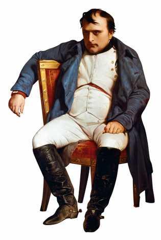 Napoléon dépeint après avoir appris la chute de Paris en mars 1814. Peinture de Paul Delaroche, ...