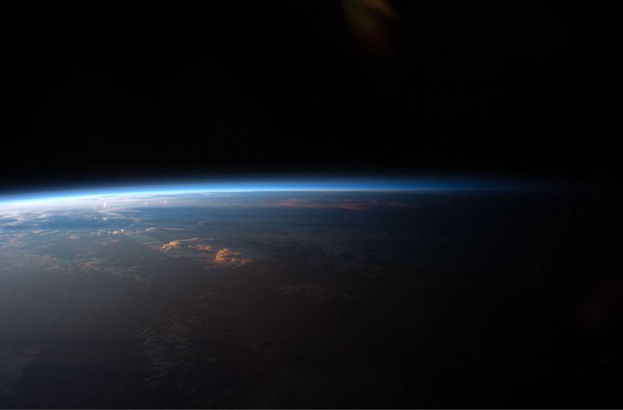 Le soleil se couche sur l'Amérique du Sud - Vision à bord de la Station spatiale ...