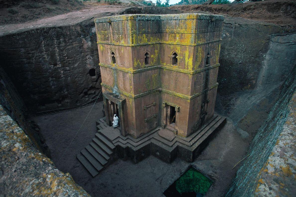 La ville de Lalibela, en Éthiopie, classée au patrimoine mondial de l'UNESCO, est connue pour ses ...