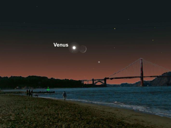 Venus et le croissant de Lune s'associeront pour un duo en juillet.