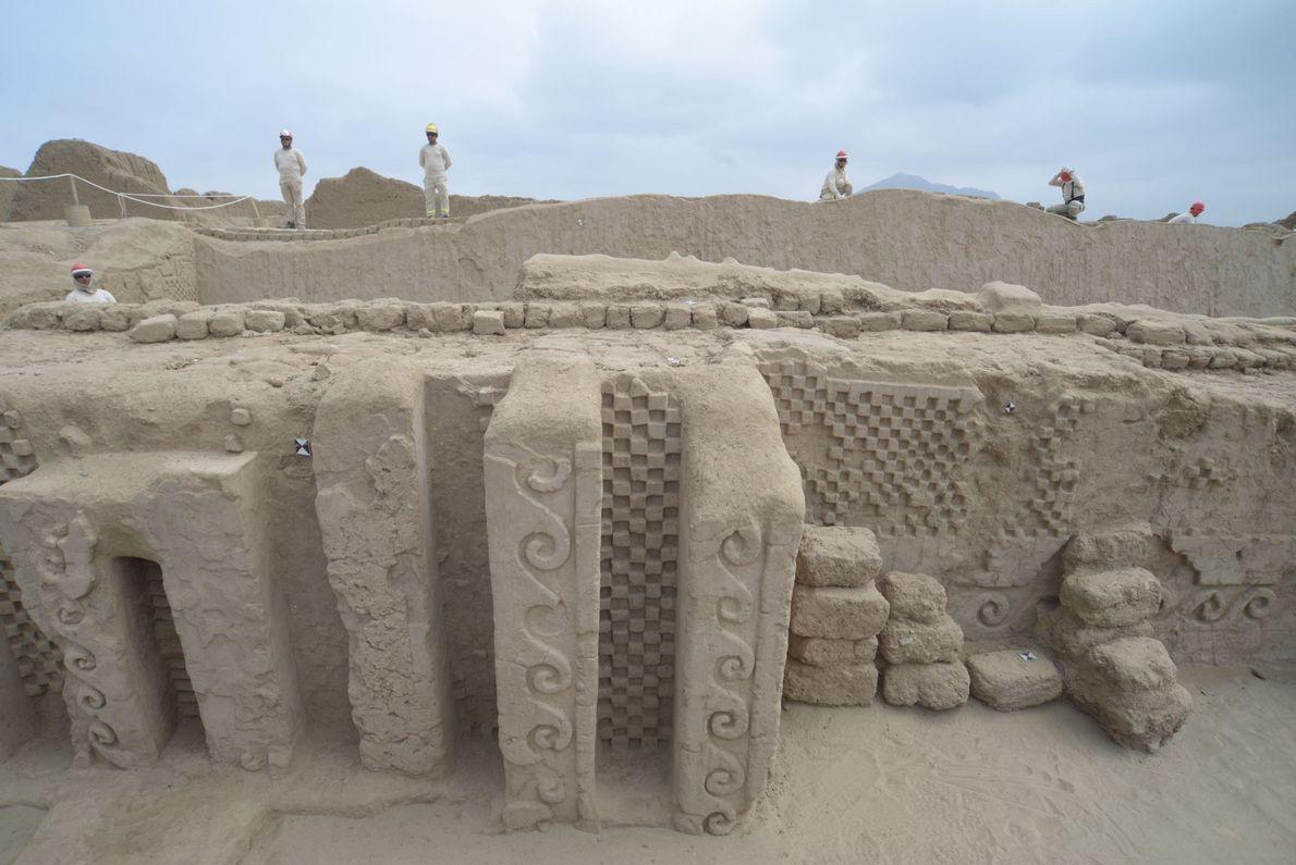 La découverte a été faite dans le palais d'Utz An, le plus grand palais d'adobe de ...