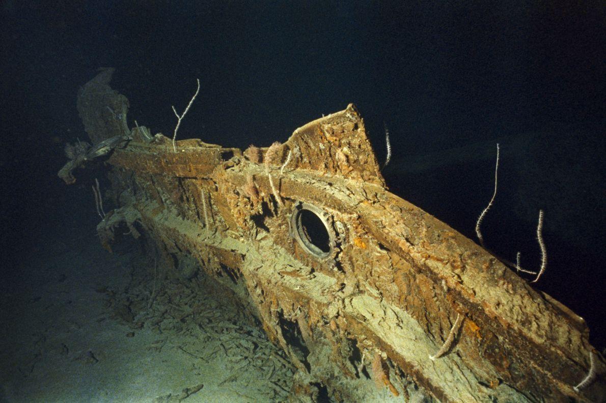 Un fragment de la coque du Titanic.