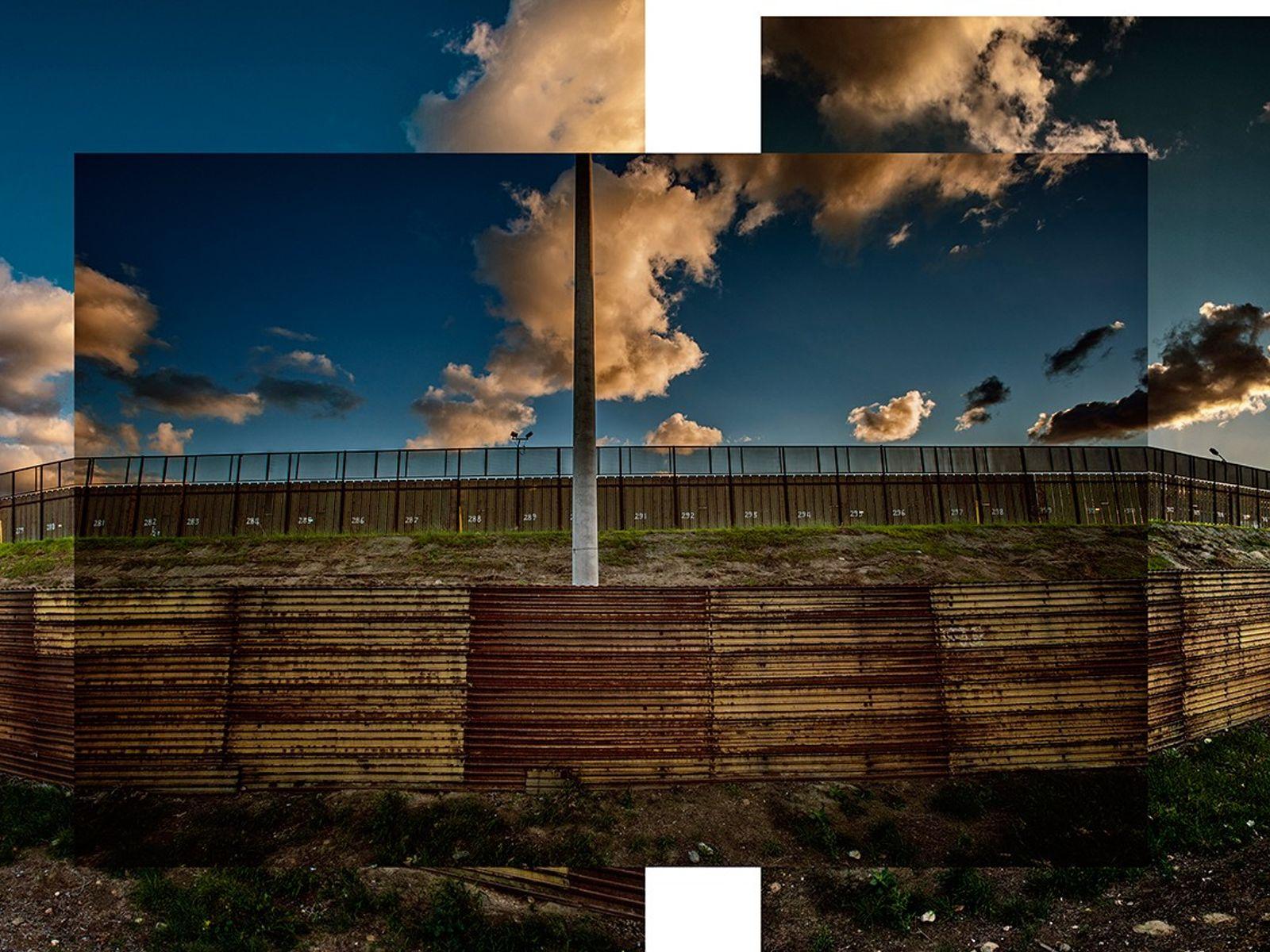 Un mur frontalier double, situé un peu plus à l'intérieur des terres des États-Unis, empêche les ...