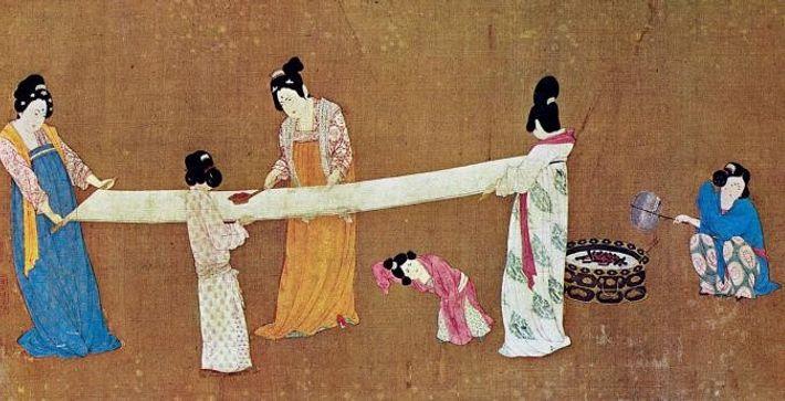 Le tableau ci-dessus a été peint par l'Empereur Huizong (de la dynastie des Song) au 12e ...