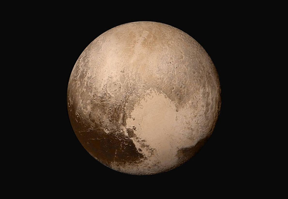 Image de Pluton en couleur réelle
