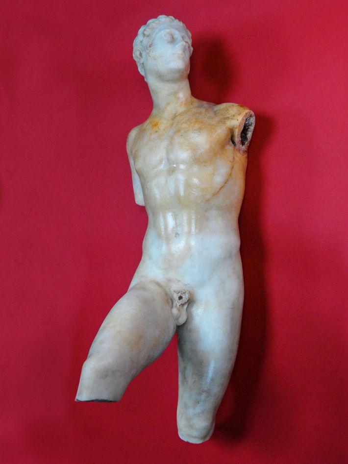 Après 14 années de recherches infructueuses, Papakosta a mis au jour cette statue de marbre d'Alexandre ...