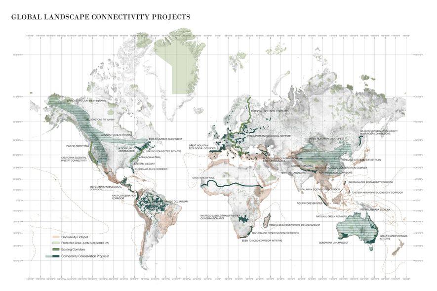Cette carte représente les projets aux quatre coins du monde qui visent à relier les centres ...