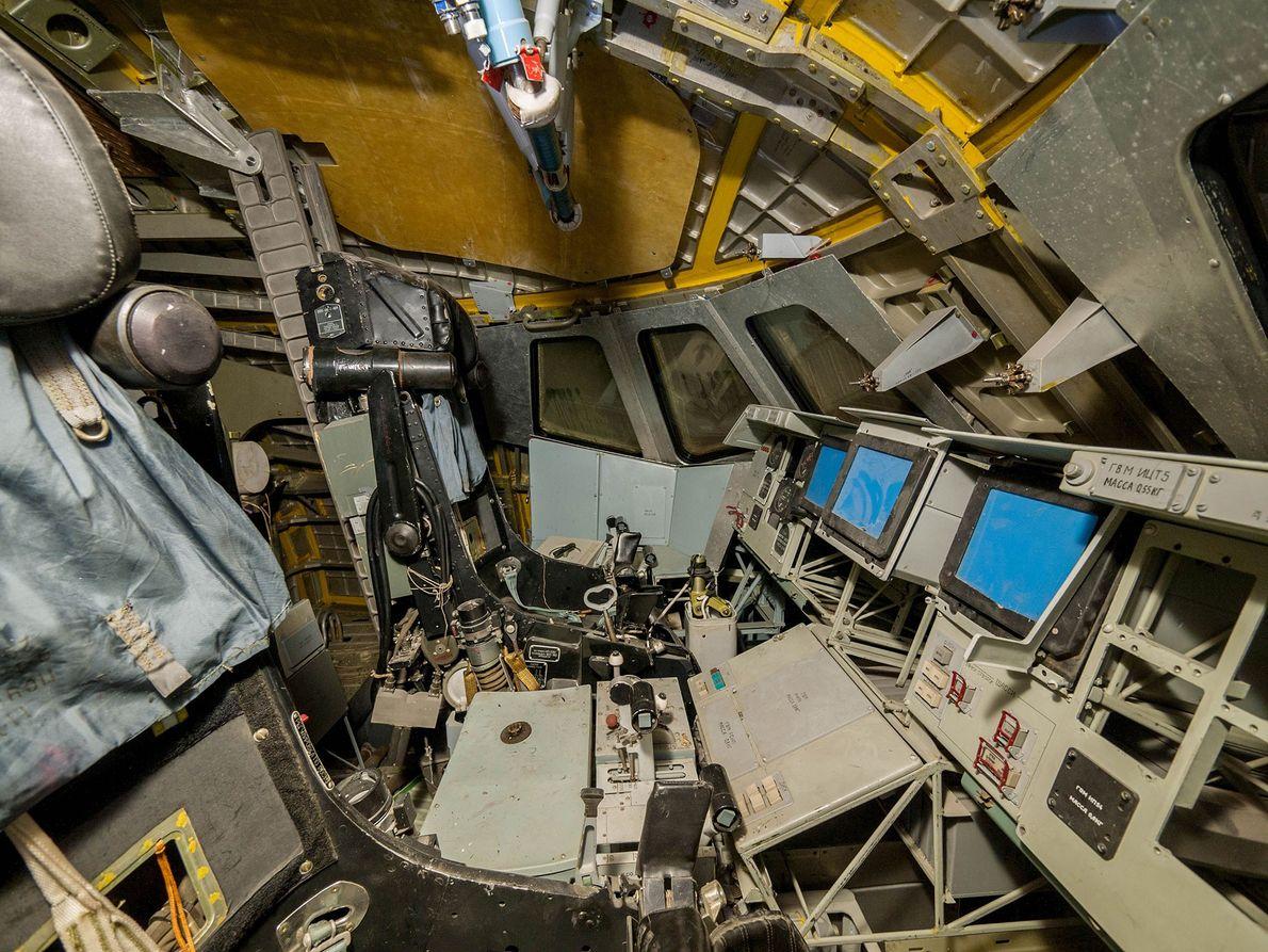 Image du cockpit d'une navette spatiale russe