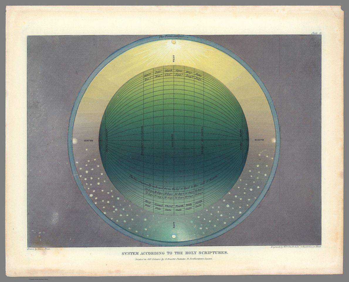 Carte de la Terre sous un autre angle, issue du livre d'Isaac Frost. Sur cette carte, ...