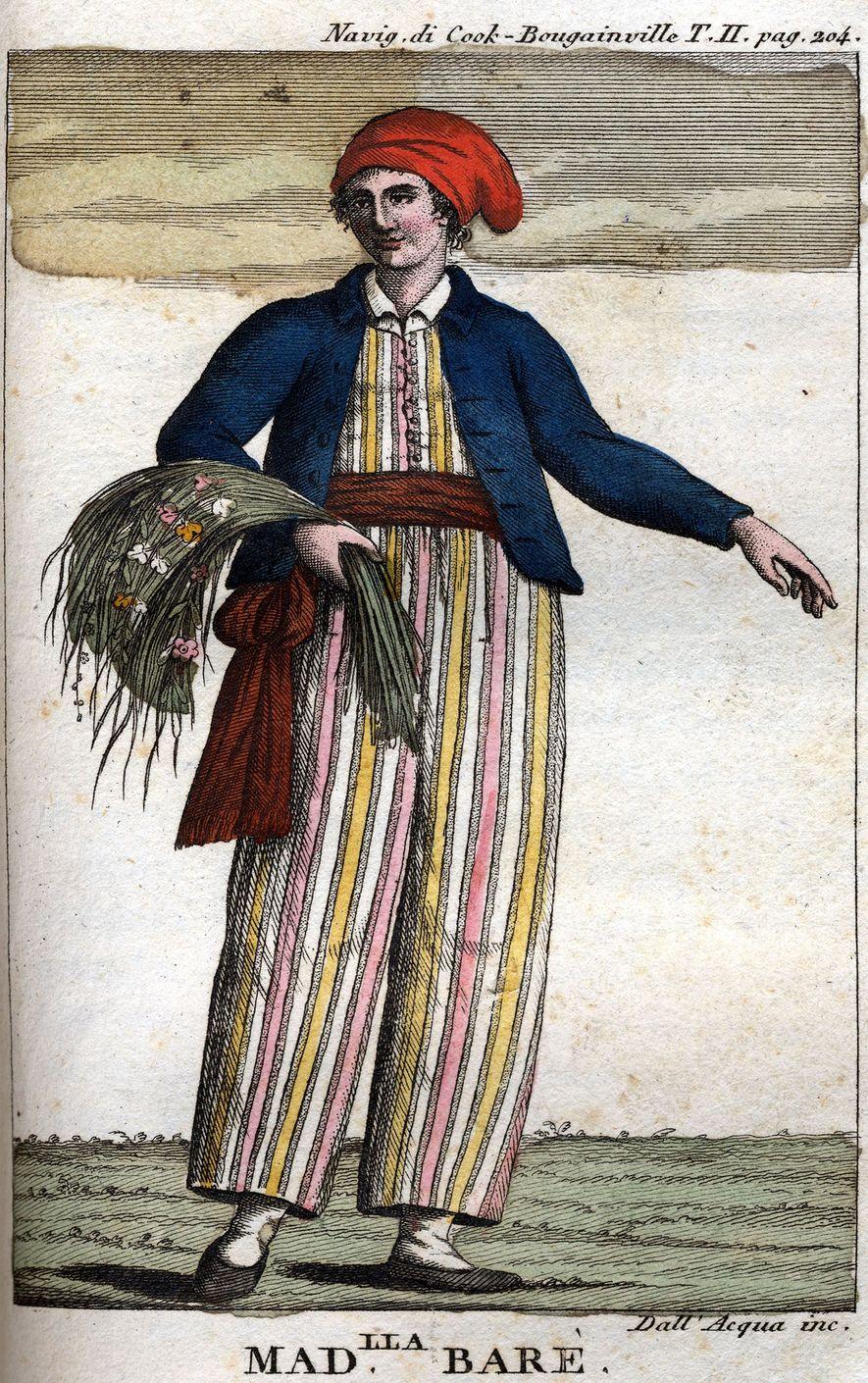 Portrait de Jeanne Baret, aventurière française.