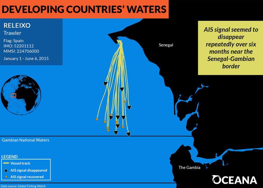 Pendant un an et demi, un navire de pêche espagnol a disparu à plusieurs reprises, dès ...