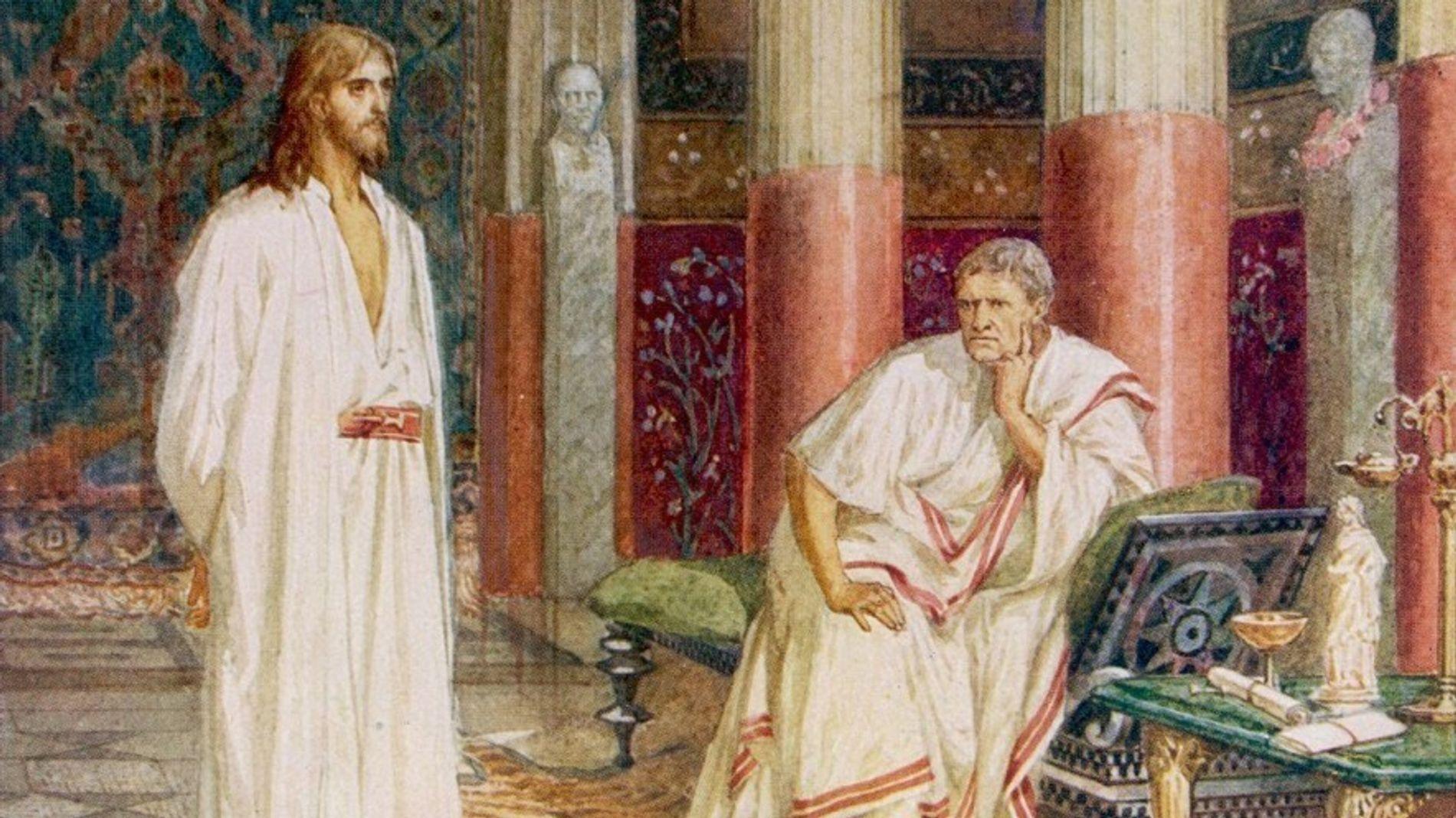Selon les évangiles chrétiens, le préfet romain Ponce Pilate aurait interrogé Jésus avant d'ordonner son exécution.
