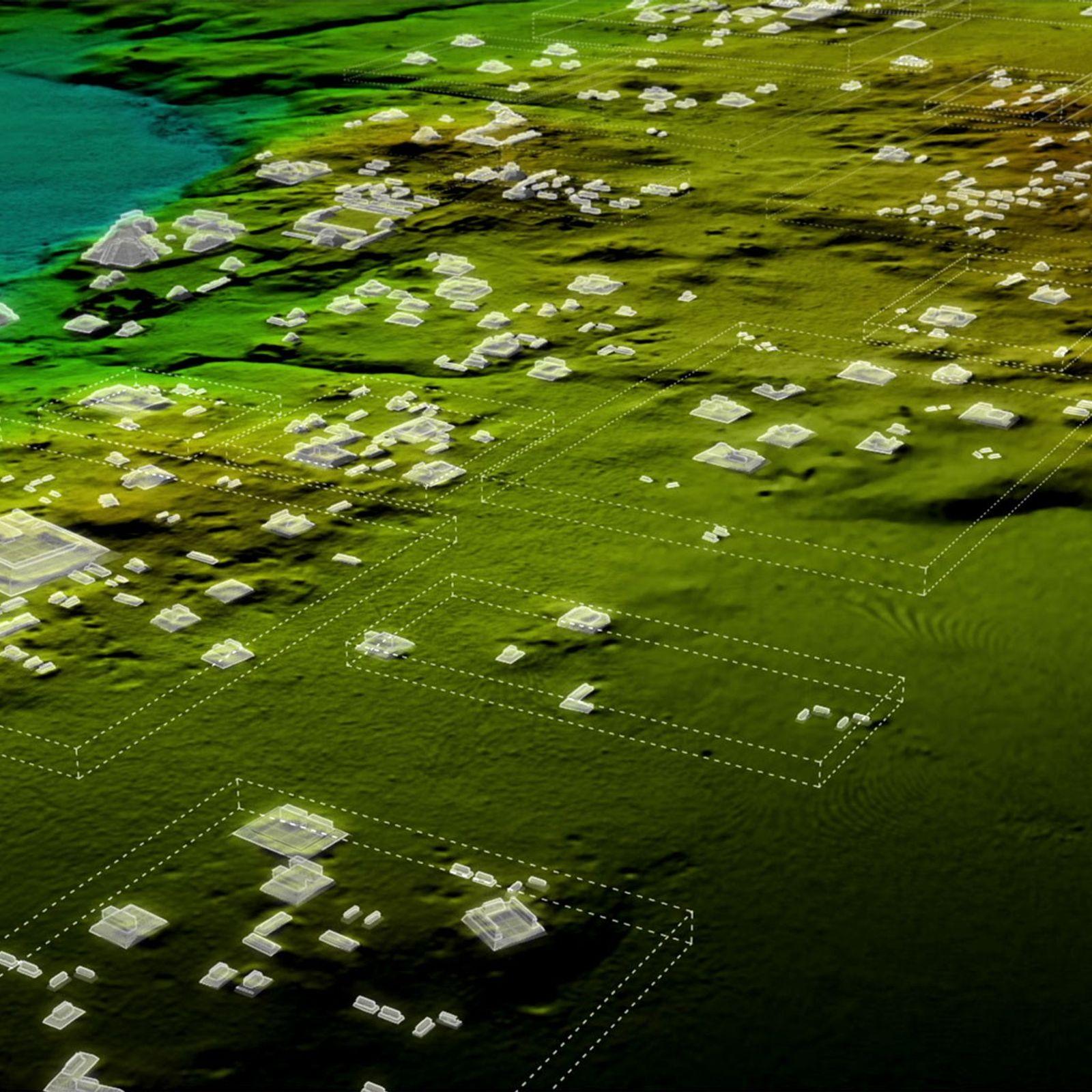 Une simulation en trois dimension des découvertes LiDAR